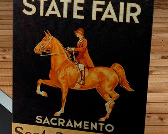 1933 Vintage California State Fair Poster - Canvas Gallery Wrap -