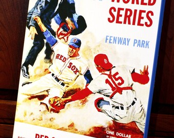 1967 Vintage Boston Red Sox - St. Louis Cardinals World Series Program - Canvas Gallery Wrap   #BB038