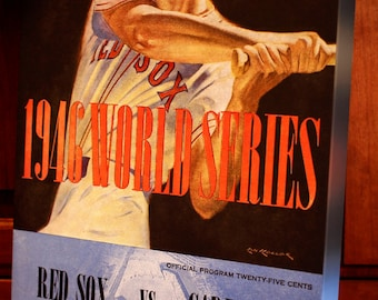 1946 Vintage Red Sox World Series Program - Canvas Gallery Wrap  #BB006