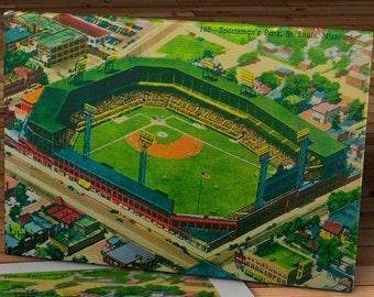 Vintage Sportsman's Park Postcard - St. Louis Cardinals - Canvas Gallery Wrap   #BB250