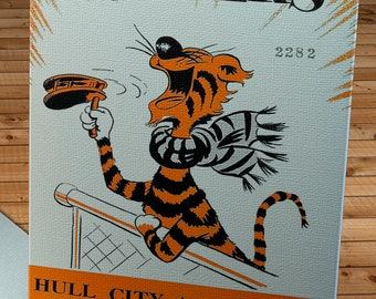 1956 Vintage Hull City Football Club - English Football Program Cover - Canvas Gallery Wrap