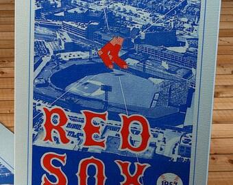 1957 Vintage Red Sox Program - Canvas Gallery Wrap   #BB113