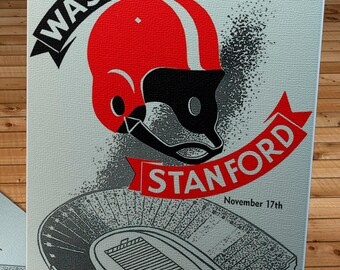 1956 Vintage Washington Huskies - Stanford Football Program Cover - Canvas Gallery Wrap