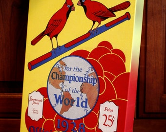 1928 Vintage St Louis Cardinals World Series Program - Canvas Gallery Wrap   #BB005