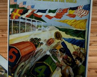 1909 Vintage Indianapolis 500 Racing Poster  - Canvas Gallery Wrap   #MS027