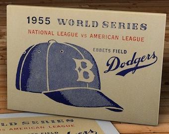 1955 Vintage Brooklyn Dodgers - World Series - Ebbets Field - Canvas Gallery Wrap -  16 x 10