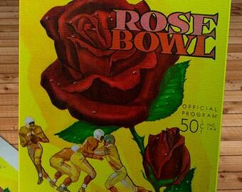 1960 Vintage Rose Bowl - Washington Huskies - Wisconsin Badgers Football Program Cover - Canvas Gallery Wrap