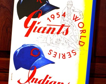 1954 Vintage New York Giants - Cleveland Indians World Series Program - Canvas Gallery Wrap -  12 x 14 #BB057