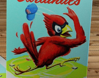 1957 Vintage St Louis Cardinals Yearbook - Canvas Gallery Wrap -  24 x 30