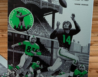 1957 Vintage Philadelphia Eagles - New York Giants Football Program Cover - Canvas Gallery Wrap