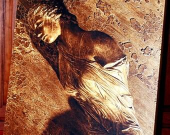 The golden lady of Santa Maria degli Angeli e dei Martiri Church - Rome, Italy - Canvas Gallery Wrap - 24 x 24 #FA001