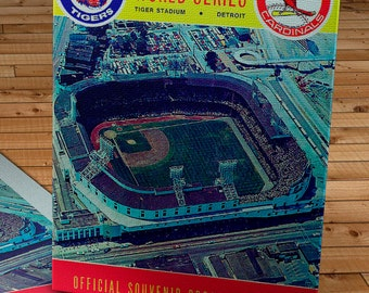 1968 Vintage Detroit Tigers - St. Louis Cardinals World Series Program - Canvas Gallery Wrap   #BB082