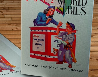 1942 Vintage Yankees-Cardinals World Series Program - Canvas Gallery Wrap   #BB016