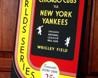 1932 Vintage Chicago Cubs - New York Yankees World Series Program - Canvas Gallery Wrap -    #BB064