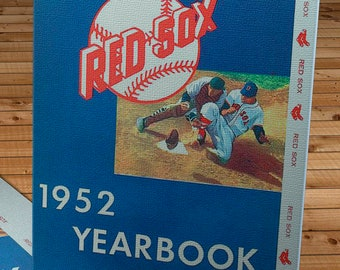 1952 Vintage Boston Red Sox Yearbook - Canvas Gallery Wrap