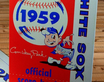 1959 Vintage Chicago White Sox Score Book - Canvas Gallery Wrap   #BB123