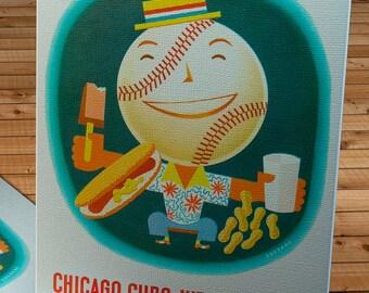 1954 Vintage Chicago Cubs Baseball Program - Canvas Gallery Wrap    #BB111