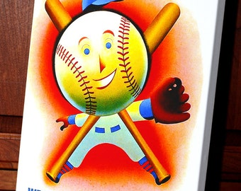 1952 Vintage Los Angeles Angels -Wrigley Field Program - Canvas Gallery Wrap   #BB062