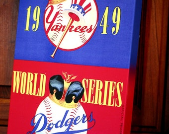 1949 Vintage Yankees vs Dodgers World Series Program - Canvas Gallery Wrap   #BB018