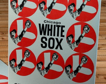 1963 Vintage Chicago White Sox Yearbook - Canvas Gallery Wrap