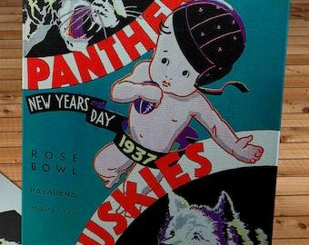 1937 Vintage Rose Bowl - Pittsburgh Panthers  - Washington Huskies Football Program - Canvas Gallery Wrap