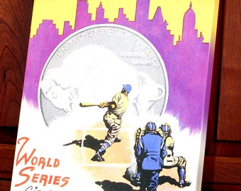 1936 Vintage New York Giants - New York Yankees World Series Program - Canvas Gallery Wrap   #BB047