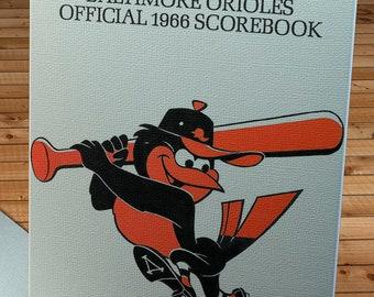 1966 Vintage Baltimore Orioles Scorebook Cover - Canvas Gallery Wrap