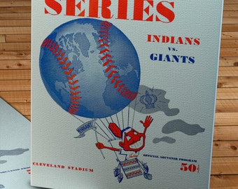 1954 Vintage Cleveland Indians World Series Program - Canvas Gallery Wrap   #BB025