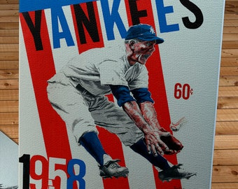 1958 Vintage New York Yankees Yearbook - Canvas Gallery Wrap
