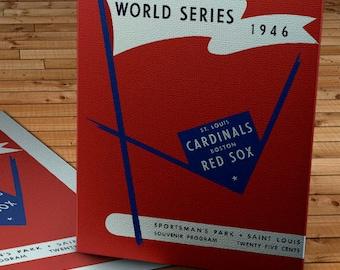 1946 Vintage St. Louis Cardinals - Sportsmen Park World Series Program - Canvas Gallery Wrap   #BB021