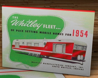 1954 Vintage Whitley Fleet Trailer - Canvas Gallery Wrap - 18 x 14