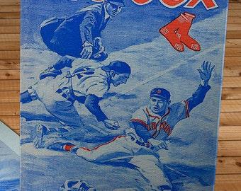 1961 Vintage Boston Red Sox Program - Canvas Gallery Wrap -  10 x 16 #BB118