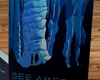 Vintage WPA Poster - See America - US Travel Bureau - Canvas Gallery Wrap   #WP009