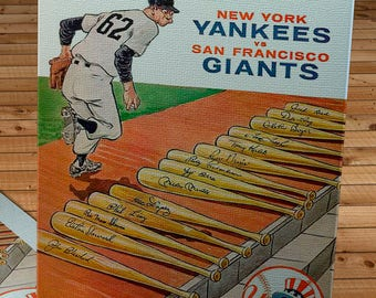 1962 Vintage New York Yankees - San Francisco Giants - World Series Program - Canvas Gallery Wrap