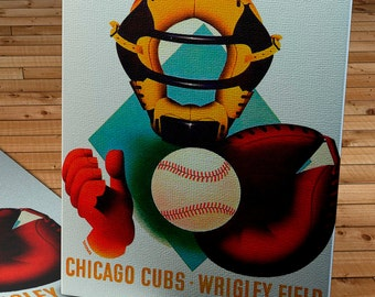 1948 Vintage Chicago Cubs Baseball Program - Canvas Gallery Wrap