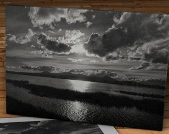 Clearing Storm - Klamath Lake, Oregon - Canvas Gallery Wrap   #FA003