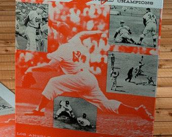 1960 Vintage Los Angeles Dodgers - Memorial Coliseum Program  - Canvas Gallery Wrap   #BB131