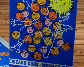 1957 Vintage Chicago Cubs Program - Canvas Gallery Wrap   #BB043