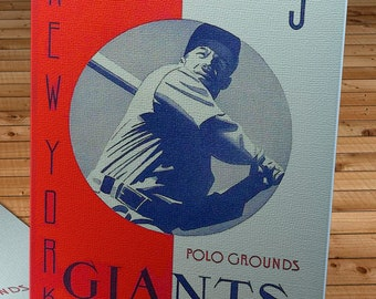 1941 Vintage New York Giants Baseball  Program - Canvas Gallery Wrap -