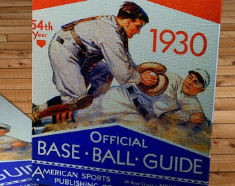 1930 Vintage Spalding's Baseball Guide - Canvas Gallery Wrap   #BB035
