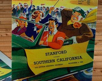 1949 Vintage USC Trojans  - Stanford Football Program - Canvas Gallery Wrap