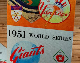 1951 Vintage New York Giants - New York Yankees World Series Program - Canvas Gallery Wrap