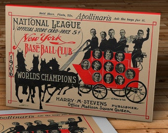 1906 Vintage New York Giants Baseball Program - World Champions - Canvas Gallery Wrap