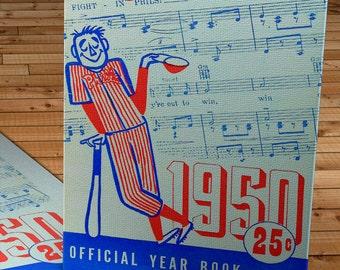 1950 Vintage Philadelphia Phillies Program - Canvas Gallery Wrap -  10 x 16 #BB076