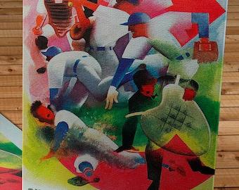 1947 Vintage Chicago Cubs Baseball Program  - Canvas Gallery Wrap    #BB132