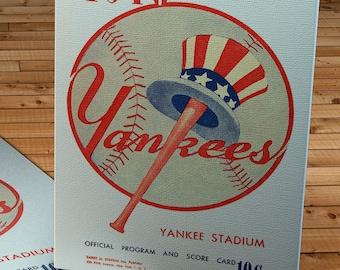 1946 Vintage New York Yankees Program - Canvas Gallery Wrap -    #BB084
