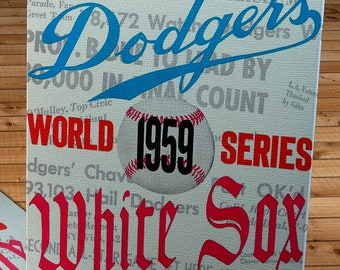 1959 Vintage Chicago White Sox - Los Angeles Dodgers World Series Program Cover - Canvas Gallery Wrap