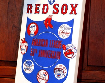 1951 Vintage Boston Red Sox Program - Canvas Gallery Wrap   #BB044