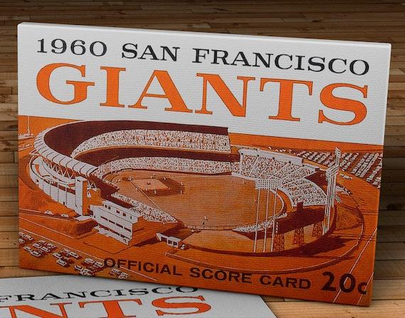 12 x 18 #BB067 Candlestick Park Program 1964 Vintage San Francisco Giants Canvas Gallery Wrap