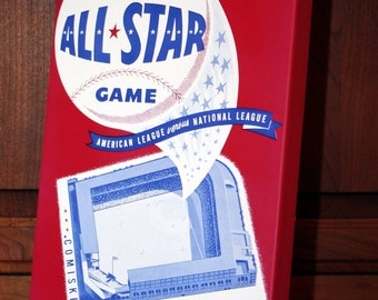1950 Vintage All -Star Game Program - Comiskey Park, Chicago  - Canvas Gallery Wrap   #BB010